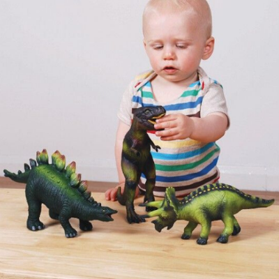 3 Pack Soft Rubber Dinosaur Set,Soft Rubber Animal toy Play Set  Jungle Animals,sensory toys animal themed,sensory play ideas